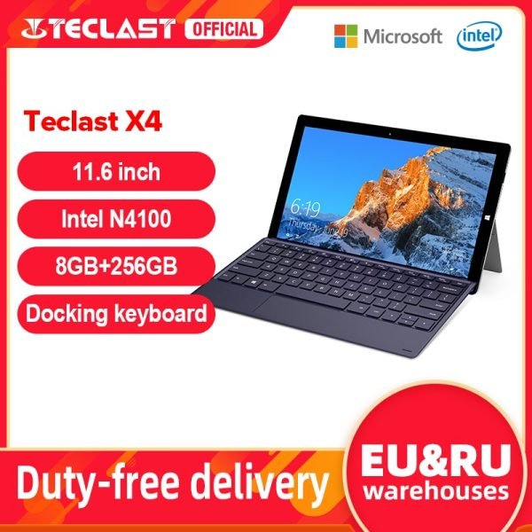 خرید تکلست ایکس 4 Teclast X4 11.6″ 2 in 1 Tablet 1920×1080 Windows 10 OS 8GB RAM 256GB SSD Tablets PC Intel Gemini Lake N4100