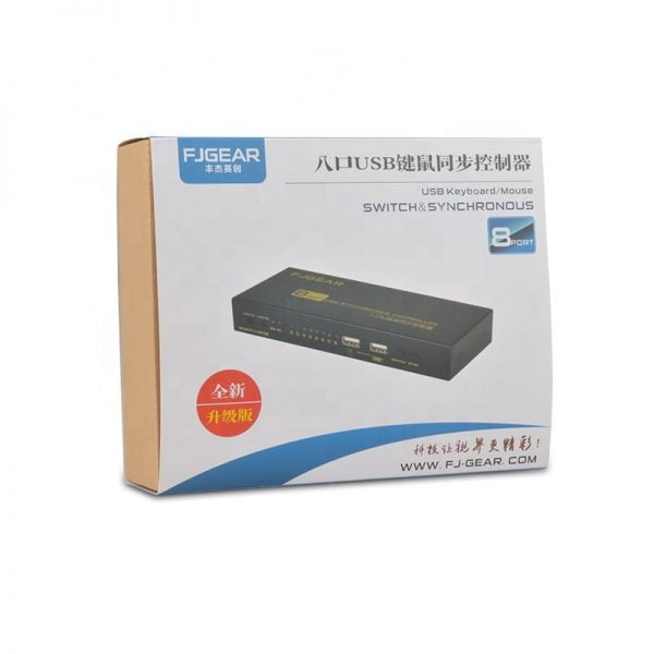 8 ports KVM switch USB synchronizer 8 ports synchronous controller a set of keyboard/mouse control 8 PC