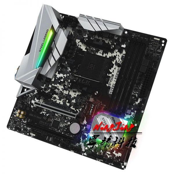 ASROCK B450M STEEL LEGEND Micro-ATX AMD B450 DDR4 3466 (OC)MHz M.2 USB3.1 New Max-64G Double Channel Socket AM4 Motherboard