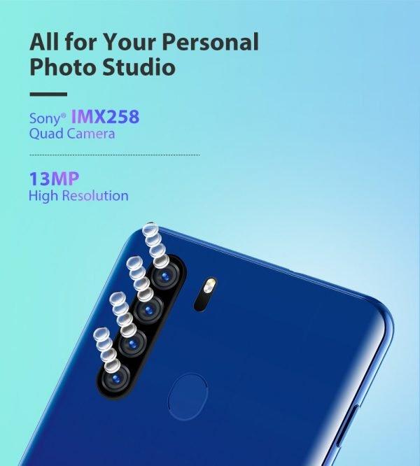 خرید گوشی بلک ویو از علی اکسپرس Blackview A80 Plus Mobile Phone Octa Core 4GB RAM 64GB ROM 13MP Quad Rear Camera 6.49 Inch