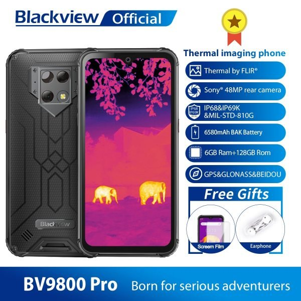 خرید گوشی بلک ویو از علی اکسپرس Blackview BV9800 Pro Thermal Camera Mobile Phone Helio P70 Android 9.0 6GB 128GB IP68 Waterproof 6580mAh