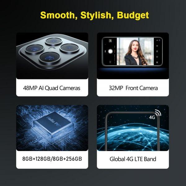 خرید گوشی کوبات از علی اکسپرس Cubot 8GB Smartphone C30 Global 4G LTE 128/256GB 32MP Selfie 48MP Quad Camera Helio P60 NFC 6.4″FHD