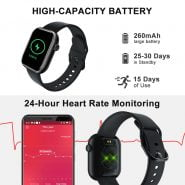 خرید ساعت هوشمند کوبات Cubot C5 IP68 Waterproof SmartWatch Heart Rate Calorie Monitor Touch Fitness Tracker Sport Smart