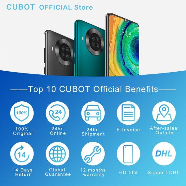 خرید گوشی کوبات Cubot Note 20 Pro Quad Camera Smartphone NFC 6/8GB 128GB 6.5″ 4200mAh Android 10