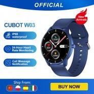 خرید ساعت هوشمند کوبات Cubot W03 IP68Waterproof SmartWatch Heart Rate Calorie Monitor Fitness Tracker Clock Android IOS