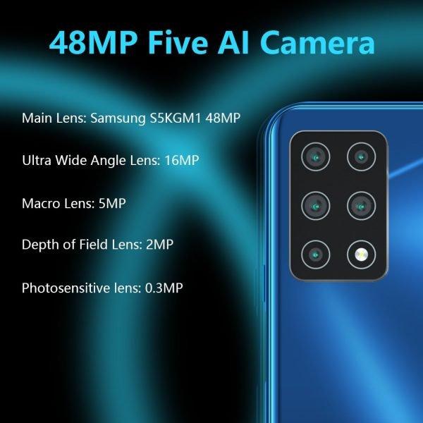 خرید گوشی کوبات از علی اکسپرس Cubot X30 Cellphone Global Version 48MP Five Camera 32MP Selfie 8GB 256GB NFC 6.4″ Fullview