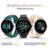 خرید ساعت هوشمند دوجی DOOGEE CR1 Smart watch IP68 Waterproof Bluetooth 5.0 Sleep Monitor Fitness Heart Rate