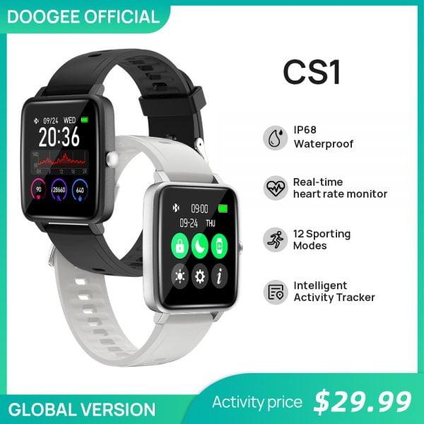 خرید ساعت هوشمند دوجی DOOGEE CS1 Smart Watch Sport Smart Watch IP68 Waterproof Real-time