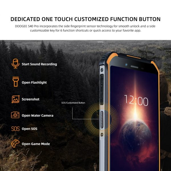 خرید گوشی دوجی اس 40 پرو از علی اکسپرس DOOGEE S40 Pro Android 10 Rugged Mobile Phone IP68/IP69K 4GB RAM 64GB ROM Waterproof