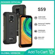 خرید گوشی دوجی اس 59 از علی اکسپرس DOOGEE S59 rugged smartphone 10050mAh super battery 4GB 64GB smartphone