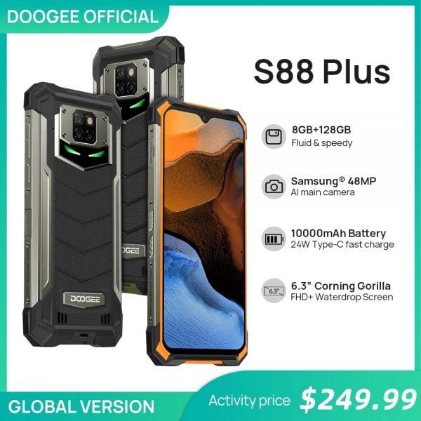 خرید گوشی دوجی اس 88 پلاس از علی اکسپرس DOOGEE S88 Plus Rugged SmartPhone 48MP Main Camera 8GB RAM 128GB ROM IP68/IP69K smart phone