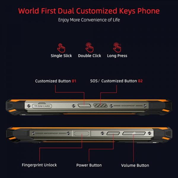 خرید گوشی دوجی اس 88 پرو از علی اکسپرس DOOGEE S88 Pro Rugged SmartPhone 10000mAh telephones Helio P70 Octa Core 6GB RAM 128GB ROM IP68/IP69K