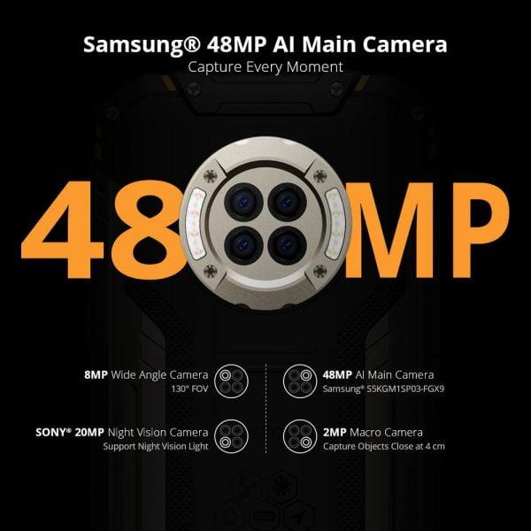 خرید گوشی دوجی اس 96 پرو از علی اکسپرس DOOGEE S96 Pro Rugged Phone 48MP Round Quad Camera Rugged Phone 20MP Infrared Night Vision Helio G90