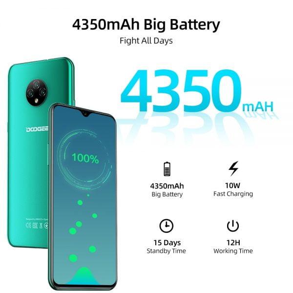 """خرید گوشی دوجی ایکس 95 از علی اکسپرس DOOGEE X95 Cellphones 6.52""""MTK6737 16GB ROM Dual SIM 13MP Triple Camera 4350mAh"""