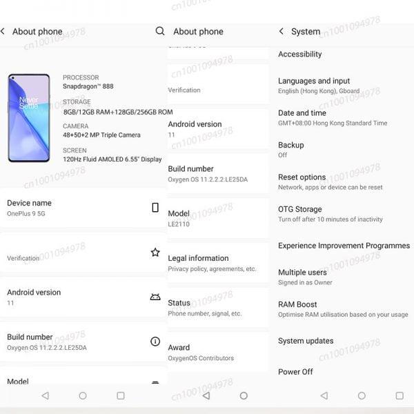 خرید گوشی وان پلاس 0 5 جی از علی اکسپرس Global Rom OnePlus 9 5G Snapdragon 888 8GB 128GB Smartphone 6.5'' 120Hz Fluid AMOLED Hasselblad