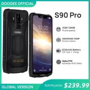 خرید گوشی دوجی اس 90 پرو از علی اکسپرس IP68 DOOGEE S90 Pro Modular Rugged Mobile Phone Helio P70 Octa Core 6GB 128GB