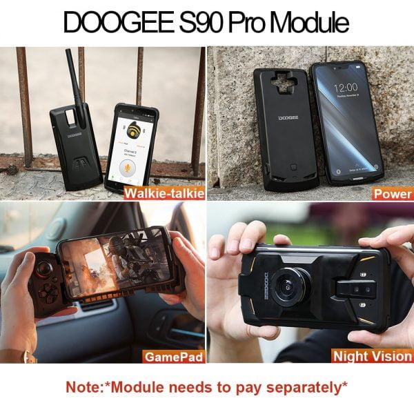 خرید گوشی دوجی اس 90 پرو از علی اکسپرس IP68 DOOGEE S90 Pro Modular Rugged Mobile Phone Helio P70 Octa Core 6GB 128GB