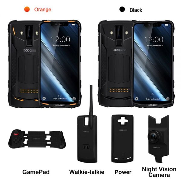 خرید گوشی دوجی اس 90 از علی اکسپرس IP68/IP69K (Outdoor BOX) DOOGEE S90 Super Modular Rugged Mobile Phone 6.18inch Display 5050mAh Helio P60