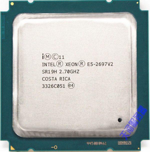 خرید پردازنده اینتل از علی اکسپرس Intel xeon e5 2697 v2 2.7GHz 30M QPI 8GT/s LGA 2011 SR19H C2 E5-2697 v2 CPU Proce E5-2697V2