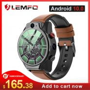 خرید ساعت هوشمند LEMFO LEM14 Smart Watch 4G 5ATM Waterproof Android 10 Helio P22 Chip 4G 64GB LTE 4G SIM 1100mAh Face ID 2021 Dual Camera for Men