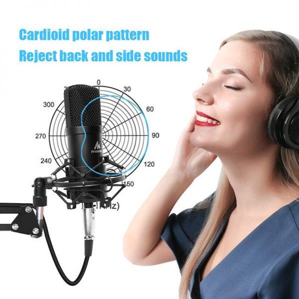 خرید میکروفون از علی اکسپرس MAONO Condenser Microphone Professional Podcast Studio Microphone Audio 3.5mm Computer Mic for YouTube Karaoke