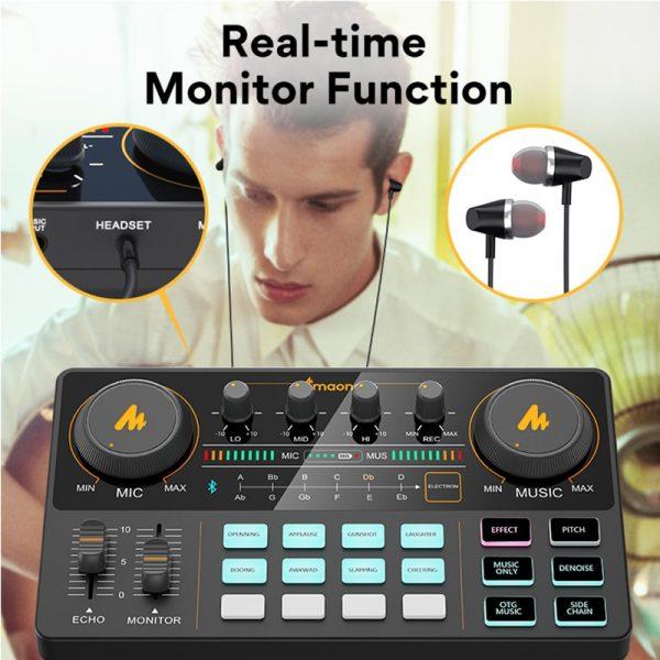 خرید میکروفون از علی اکسپرس MAONOCASTER LITE AM200-S1 All-in-on Microphone Mixer Kit Sound Card Audio Podcaster With Condenser