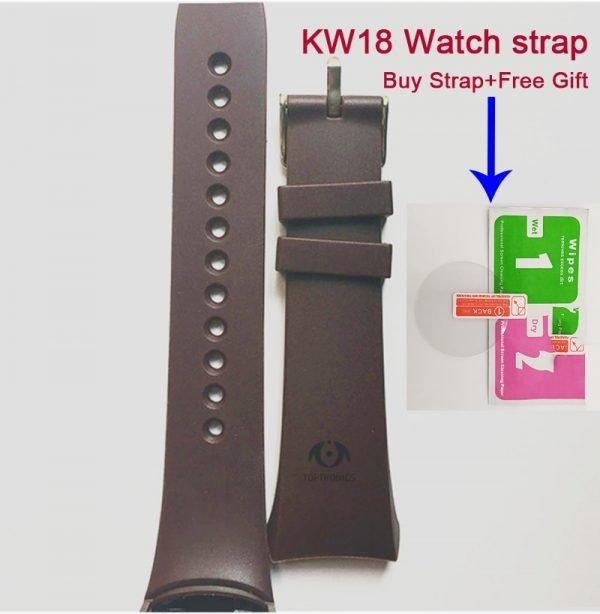 خرید لوازم ساعت هوشمند Original KW18 smart watch strap belt silicone bracelet factory direct 100% original fashion strap for Kingwear