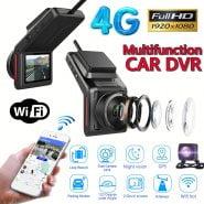Phisung K18 4G WiFi Car DVR Camera 2.0″ FHD 1080P GPS Dashcam With Rearview Camera Dual Lens Video Recorder Registrator Dash Cam