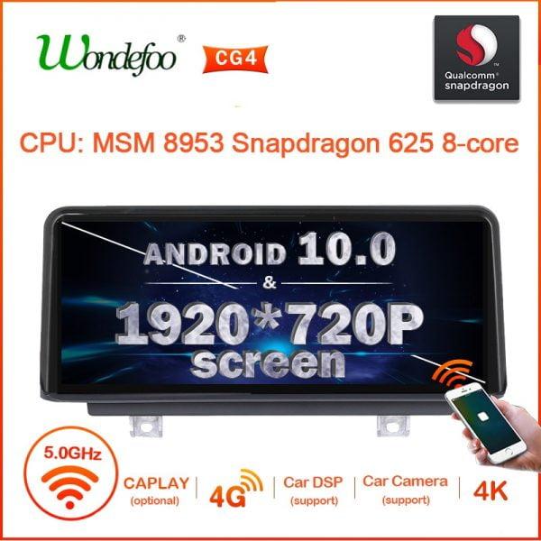 خرید سیستم اندروید خودرو Snapdrago 625 1920*720p 2DIN Android 10 Car RADIO for BMW F20 F21 F30 F31 F34 F32 F33 F36 car stereo autoradio