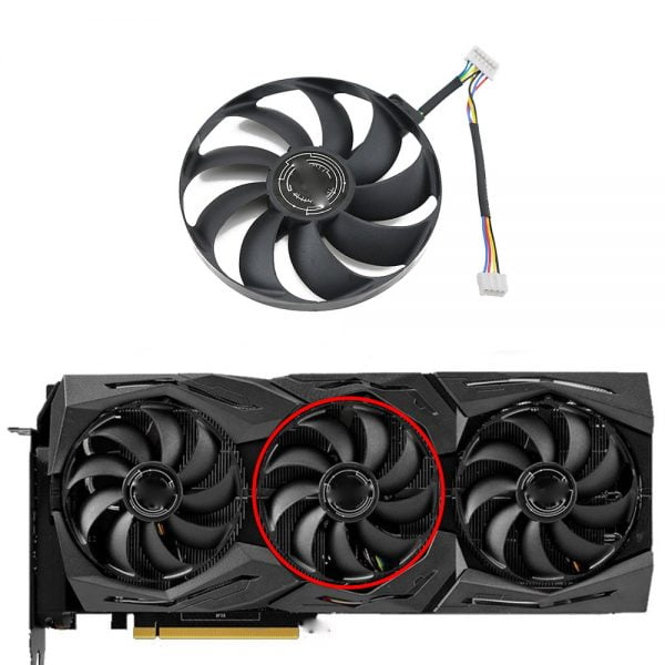 خرید فن کارت گرافیک از علی اکسپرس T129215SU 7Pin GPU Card Cooler Fans For ASUS ROG STRIX-GeForce RTX 2070 2080 SUPER Ti GAMING RTX2080 RTX2080Ti Fan