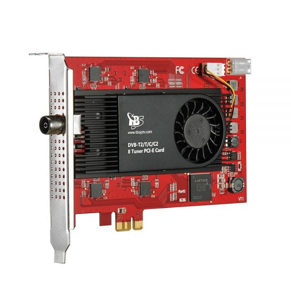 TBS6209 Octa 8 Tuner DVB-T2 C2/T/C/ISDB-T PCIe Card for Terrestrial and cable TV