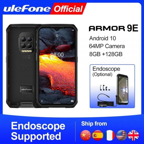 خرید گوشی یولفون از علی اکسپرس Ulefone Armor 9E Android 10 Rugged Phone Helio P90 Octa-core 8GB 128GB 2.4G 5G WIFI Mobilene 6600mAh 64MP