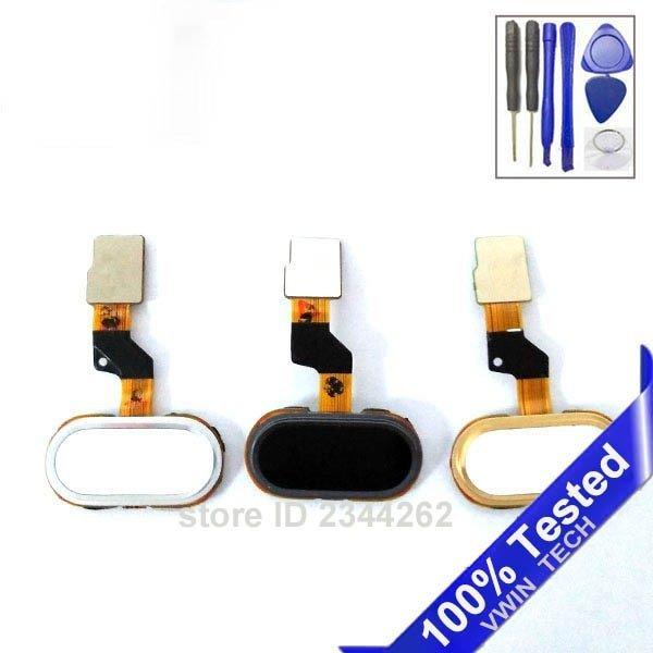 خرید کلید گوشی میزو home Button Key With Flex Cable For 5.0″ Meizu M3S Mini white Black Gold Color key
