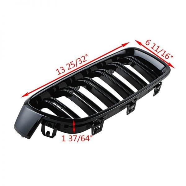 خرید قطعات بی ام و از علی اکسپرس 1Pair Gloss Black Front Grille/Grilles Kidney For BMW 3-Series F30 F31 F35 2012-2017 Car Styling