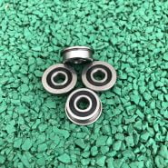 50pcs/100pcs F695-2RS Bearing 5*13*4 mm ABEC-1 Flanged Miniature F695 RS Ball Bearings F695RS For VORON Mobius 2/3 3D Printer