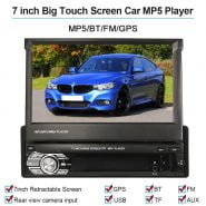7inch 1 Din Android Car RadioTouchscreen GPS Navigation Retractable Stereo Multimedia Party Car MP5 Player BT FM For Peugeot 206