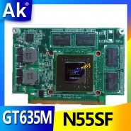 خرید کارت گرافیک لپ تاپ AK N55SF Graphic Card 2GB For Asus N75S N55S N75SF N55SF N75SL N55SL GT635M GT555M VGA Laptop Video Card 100%