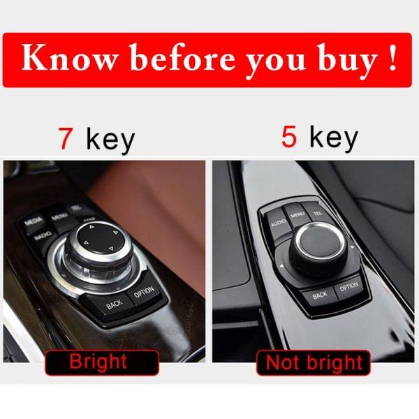 خرید قطعات بی ام و از علی اکسپرس Auto Multimedia Button Cover Trim Knob Sticker For BMW 1 2 3 4 5 Series X1 X3 X5 X6 GT F30 E90 E92 E60 E61 iDrive Accessories