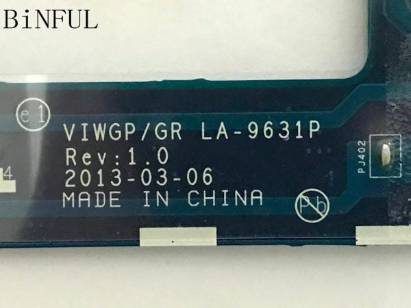 BiNFUL ,BRAND NEW. STOCK.VIWGP/GR LA-9631P LAPTOP MOTHERBOARD FOR LENOVO G500 MAINBOARD.,(qualified ok)