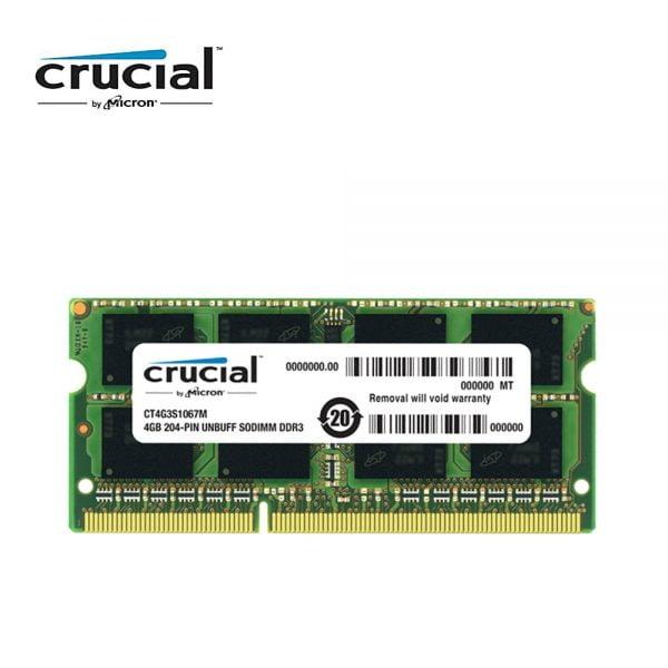Crucial Memory RAM DDR3 4G 1066MHZ PC3-8500S CL7 204pin 1.35V Laptop Memory