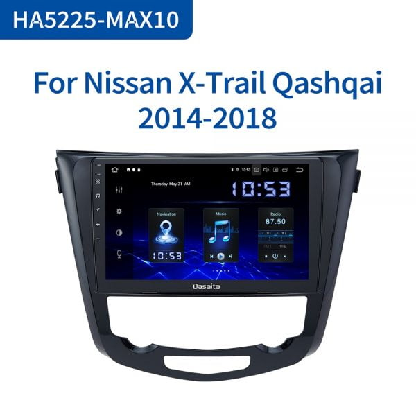 خرید مانیتور نیسان Dasaita Car Multimedia Android 10.0 for Nissan X-Trail Qashqai j11 j10 Radio 2014 2015 2016 2017 2018 2019 GPS 10.2″
