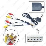 FEELDO 20-pin Extended Interface RCA AUX-IN/OUT Cable With SIM Slot For Android Head Unit Stereo #FD6345
