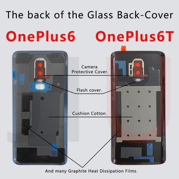 For OnePlus 6/6T Battery Glass Back Cover,Replace the Glass Back Case for oneplus6T.