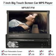 For Peugeot 206 7 inch Car Multimedia MP5 Player 1 Din Android Car Radio Stereo Intelligent Accessories Retractable Touchscreen
