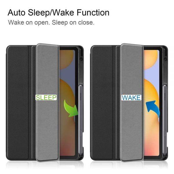 خرید کیف تبلت از علی اکسپرس For Samsung Galaxy Tab S6 Lite 10.4 Inch SM-P610 SM-P615 2020 Case Tri-Fold PU Leather Stand Cover Shock Proof