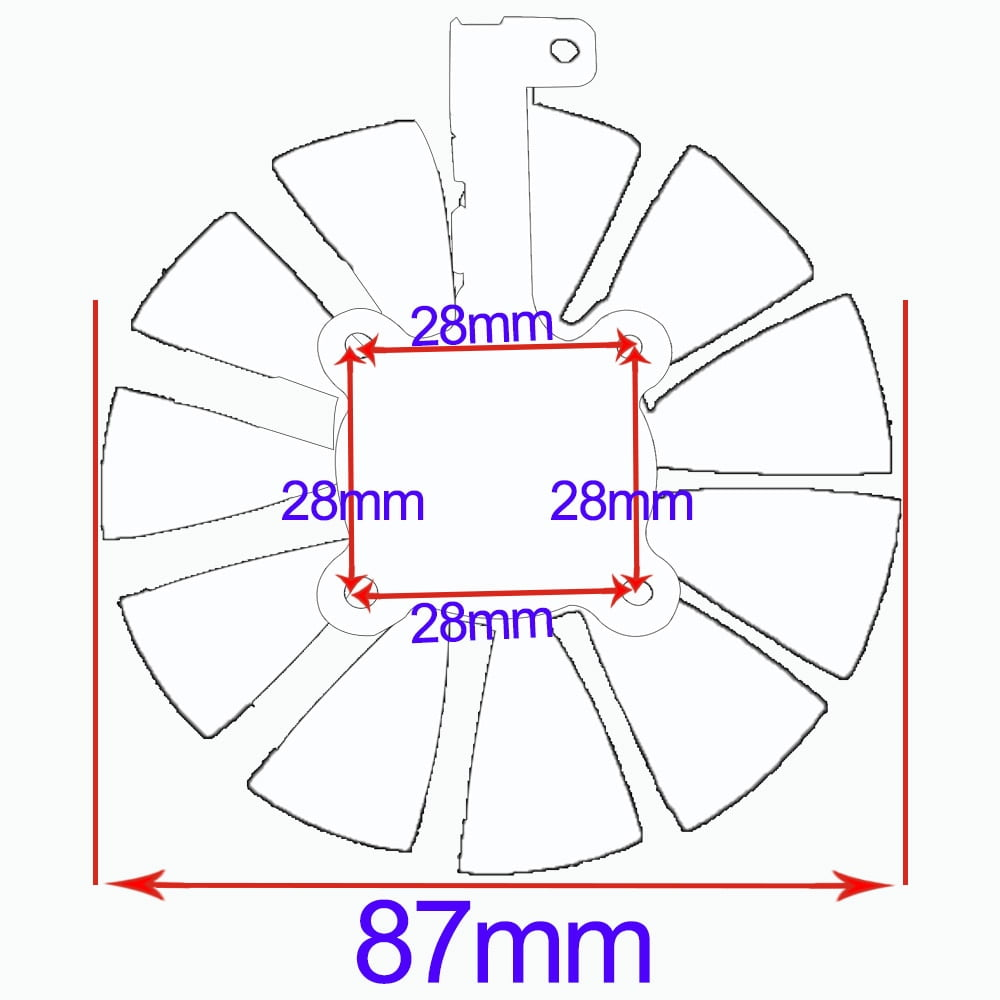 Everflow-87MM-T129215SU-4Pin-0-50A-Cooling-Fan-For-GTX-980-Ti-GTX-1050-1060-1080 (4)