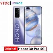 "Honor 30 Pro 5G Smart Phone Kirin 990 5G SoC 6.57"" 4000mAh Battery 2340*1080 OLED Screen Main Camera 40MP 40W SuperCharger"