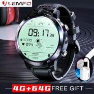 خرید ساعت هوشمند شیائومی LEMFO LEM12 pro 4G Smart Watch Men 4GB 64GB Dual Camera 1800mAh Android 10 Watch Phone WIFI GPS Smartwatch 2020