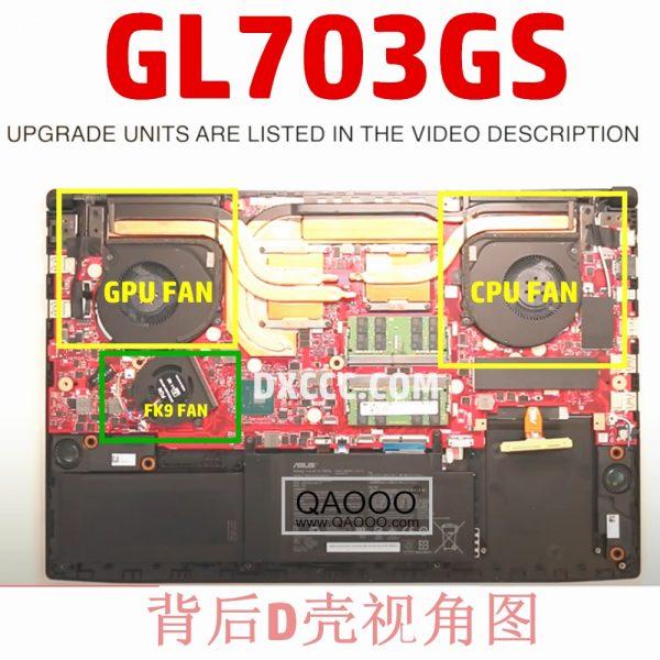 خرید فن لپ تاپ ایسوس Laptop Replacement Cooler Fan For ASUS ROG STRIX GL703 GL703GS GL703GM Laptop CPU Cooling Fan