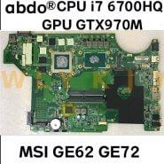 MS-16J4 MS-1794 For MSI GE62 GE72 laptop motherboard MS-17941 MS-16J41 همراه پردازنده i7 6700HQ GPU GTX970M tested 100% work